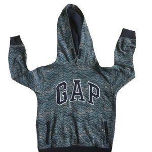 Gap Boys Navy Blue Chevron Logo Hoodie Sweatshirt Size M